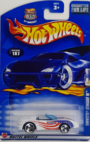 Picture of 2002 corvette stingray III stars & Stripes Mattel wheels cars