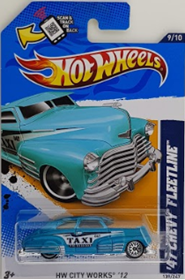 Picture of 2012 47 Chevy Fleetline Taxi Blue #9of10 HW City Works cars.