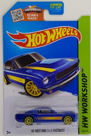 Picture of 2015 65 Mustang 2+2 Fastback Blue HW Workshop cars.