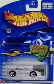 Picture of 2002 Ferrari F355 Silver #172 Mattel Wheels cars.