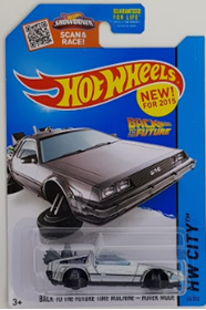Picture of 2015 Back To The Future Time Machine - Hover Mode Silver HW City.