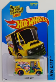 Picture of 2014 Bread Box Yellow HW City cars.