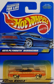 Picture of 1997 1970 Plymouth Barracuda #1063 Mattel Wheels