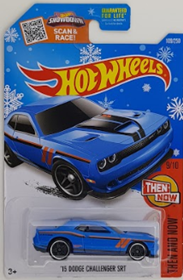 Picture of '15 Dodge Challenger SRT #9of10 Then and Now Snow Flake Card